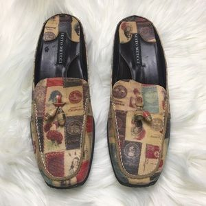 Sesto Meucci Stamp Pattern Loafer Style Shoes